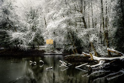 Winter landscape photography